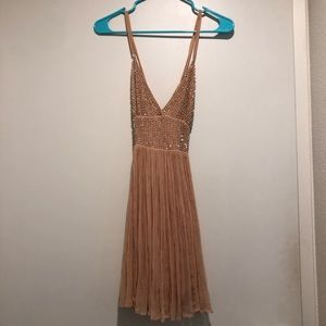 free people peach with diamonds dress